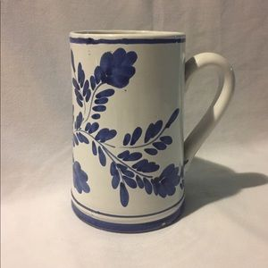 Blue and White Tankard Hand Painted Portugal